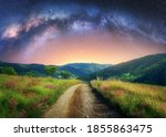Arched Milky Way Over The...