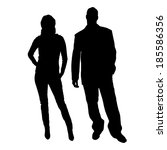 vector silhouette of a man with ... | Shutterstock .eps vector #185586356