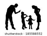 vector silhouette of family on... | Shutterstock .eps vector #185588552