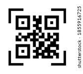 qr code. scan qr code. mobile... | Shutterstock .eps vector #1855916725