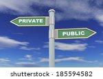 3d illustration of road signs... | Shutterstock . vector #185594582
