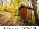 Modern Wooden Wc Cabin In A...