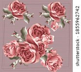 flower pattern for scarf and...   Shutterstock .eps vector #1855962742