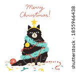 christmas holidays card  poster ...   Shutterstock .eps vector #1855966438