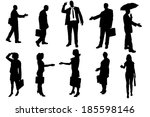 vector silhouettes of business... | Shutterstock .eps vector #185598146