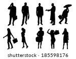 vector silhouettes of business... | Shutterstock .eps vector #185598176