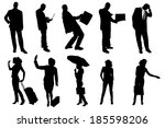 vector silhouettes of business... | Shutterstock .eps vector #185598206