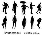 vector silhouettes of business... | Shutterstock .eps vector #185598212