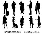 vector silhouettes of business... | Shutterstock .eps vector #185598218