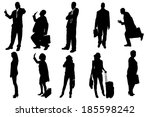 vector silhouettes of business... | Shutterstock .eps vector #185598242