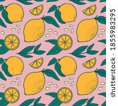 flat seamless pattern with... | Shutterstock .eps vector #1855983295