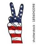 American Victory Hand Sign...