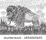 bison adult coloring page  ... | Shutterstock .eps vector #1856065645