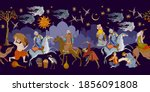 fairy tales and legends of the... | Shutterstock .eps vector #1856091808