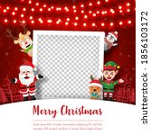 merry christmas and happy new... | Shutterstock .eps vector #1856103172