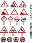 road sign stock image as jpg... | Shutterstock . vector #185615192