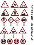 road sign | Shutterstock . vector #185615192