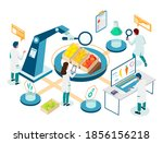 food laboratory research... | Shutterstock .eps vector #1856156218