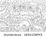 big coloring poster with cute... | Shutterstock .eps vector #1856158945