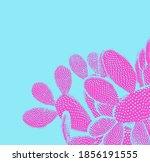 Trendy Tropical Pop Art Cactus...