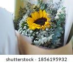 Yellow Sunflower  Statice  Sea...