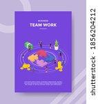 business team work people... | Shutterstock .eps vector #1856204212