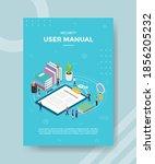security user manual people... | Shutterstock .eps vector #1856205232