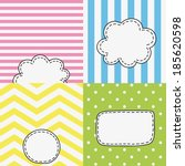 set of four funny colored tags  ...   Shutterstock .eps vector #185620598