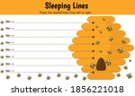 sleeping lines  pencil control  ... | Shutterstock .eps vector #1856221018