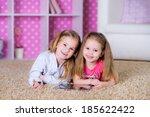 happy children playing on... | Shutterstock . vector #185622422