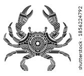 head of a crab tattoo...   Shutterstock .eps vector #1856224792