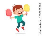 happy cute little kid boy and...   Shutterstock .eps vector #1856235238