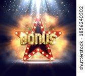 shining sign bonus with retro...   Shutterstock .eps vector #1856240302