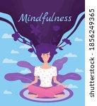 mindfullness yoga meditation... | Shutterstock .eps vector #1856249365