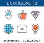 icons set of ux ui icons over...