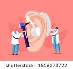 tiny male female doctors... | Shutterstock .eps vector #1856273722