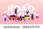 car accident on road concept.... | Shutterstock .eps vector #1856273755