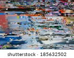 Television Screen With Static...