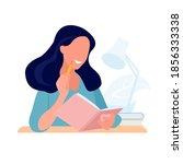 journal writing. girl diary.... | Shutterstock .eps vector #1856333338