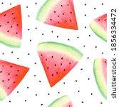 watermelon summer seamless... | Shutterstock . vector #1856334472