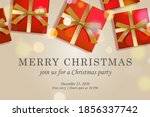 merry christmas web page... | Shutterstock .eps vector #1856337742