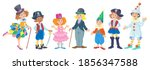 seven happy children of...   Shutterstock .eps vector #1856347588