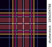 black gingham fabric. seamless... | Shutterstock .eps vector #1856354788