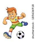 soccer boy.eps10 file  simple... | Shutterstock .eps vector #185636918