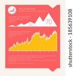 flat infographic elements.... | Shutterstock .eps vector #185639108