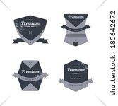 old fashion retro label sticker ... | Shutterstock .eps vector #185642672