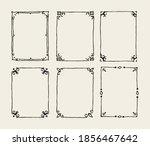 hand drawn vector border set ... | Shutterstock .eps vector #1856467642