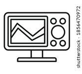 sonar echo sounder icon.... | Shutterstock .eps vector #1856470972