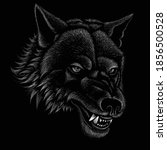 The Vector Logo Dog  Or Wolf...