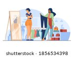 female customer choosing... | Shutterstock .eps vector #1856534398